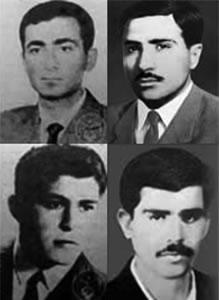 شهادت اولين دسته از اعضاى مركزيت سازمان مجاهدين خلق ايران الحراب.