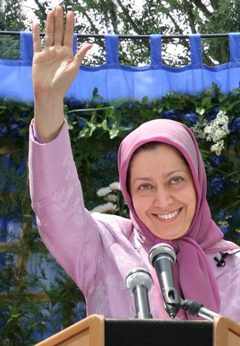 آزادى رئيس جمهور برگزيده مقاومت مريم رجوى - پاريس