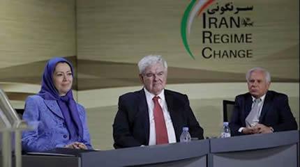مؤتمر «تغيير النظام في إيران- إلی الأمام مع ألف أشرف» في باريس بحضور مريم رجوي